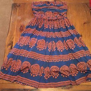 Girls from Savoy/Anthropologie Strapless Dress